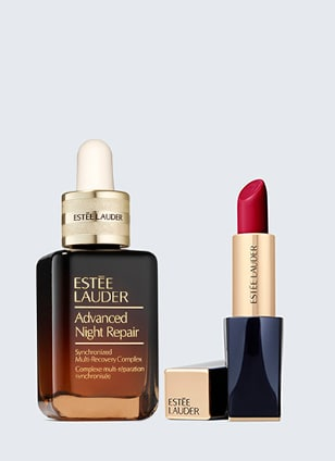 Perfectionist Pro Multi-Defense Aqua UV Gel SPF50 & Pure Color Envy Sculpting Lipstick