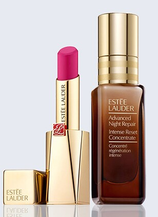 Advanced Night Repair Mask & Pure Color Desire Lipstick